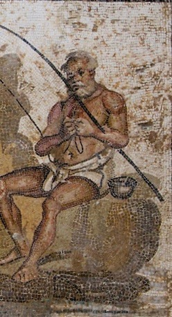 Tripoli, Libya - Roman Mosaic, National Museum, Fishermen